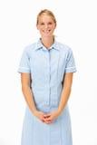 Profesional médico femenino en estudio Imagen de archivo libre de regalías