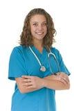 Profesional sonriente hermoso del cuidado médico Foto de archivo libre de regalías