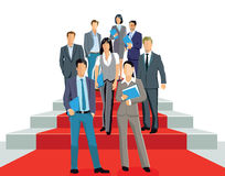 Profesionales del negocio en la alfombra roja libre illustration