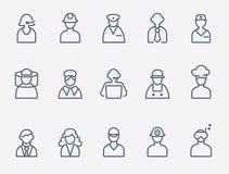 Profesionales, iconos de la gente libre illustration