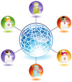 Profesionales médicos globales Imágenes de archivo libres de regalías