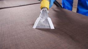 Profesjonalisty suchy czyścić kanapa Pojęcie czyścić w biurze lub w domu zbiory