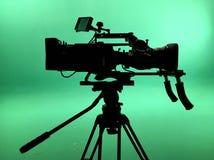 profesjonalne kamery video tło białe obraz royalty free