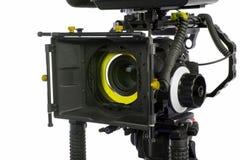 profesjonalne kamery video tło białe Obrazy Royalty Free