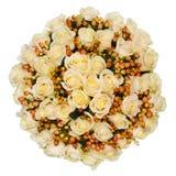 Profesjonalnie opanowany bridal bukiet od rocznik róż odizolowywać na białym tle fotografia royalty free
