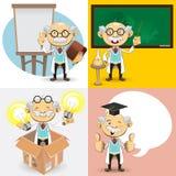 Profesorów Charaktery ilustracja wektor