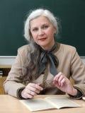 Profesor con los vidrios Foto de archivo libre de regalías