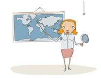 Profesor de la geografía ilustración del vector