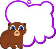 Profesor del oso con el consejo escolar Fotos de archivo libres de regalías