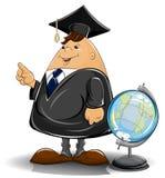 Profesor en capote con el globo libre illustration