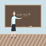 Profesor en la clase ilustración del vector
