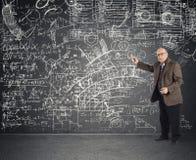 Profesor envejecido genio foto de archivo libre de regalías