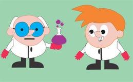 Profesor i asystent ilustracji