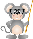 Profesor lindo del ratón Imagen de archivo libre de regalías