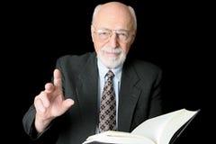 Profesor o predicador horizontal Fotografía de archivo