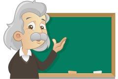 Profesor que da una lección stock de ilustración