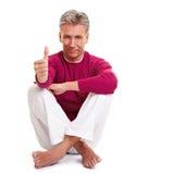 Profesor Relaxed de la yoga Fotos de archivo libres de regalías