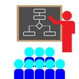 Profesor y alumno ilustración del vector