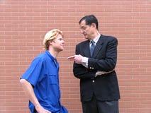 Profesor y estudiantes Imagen de archivo