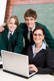Profesor y estudiantes Foto de archivo