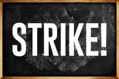 Profesores en huelga Fotos de archivo libres de regalías