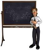 professeur 3d enseignant le dessin animé 3 Images libres de droits