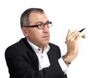 Professeur avec le crayon lecteur   Photographie stock libre de droits