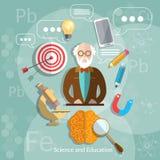 Professeur d'éducation et de science de nouveau à l'école Photo stock