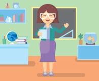 Professeur dans la chambre de classe Images libres de droits