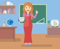 Professeur dans la chambre de classe Photo stock