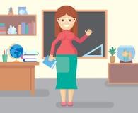 Professeur dans la chambre de classe Image libre de droits