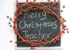 Professeur de Joyeux Noël. image stock
