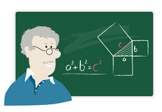 Professeur de maths Images stock