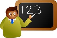 Professeur de maths illustration stock