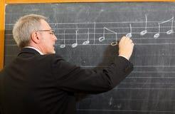 Professeur de musique Images libres de droits