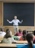 Professeur donnant une conférence Image stock