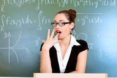 Professeur ennuyeux Photographie stock libre de droits
