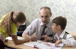 Professeur et écoliers Photo libre de droits