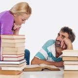 Professeur et étudiant Image stock