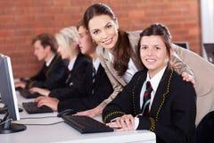 Professeur et étudiants Image libre de droits