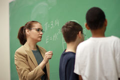 Professeur et étudiants Photo libre de droits