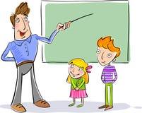 Professeur et enfants à l'école illustration stock