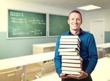 Professeur et livres Image stock