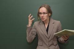 Professeur fâché Photographie stock libre de droits