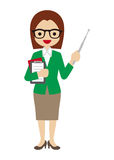 Professeur féminin Photos stock
