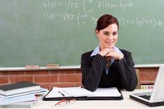 Professeur féminin Photo stock