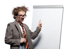 Professeur fou photo stock