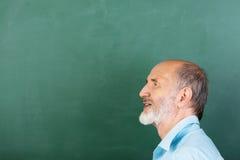 Professeur masculin supérieur réfléchi Photo libre de droits