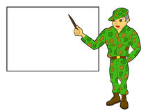 Professeur militaire Image stock