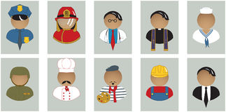 Profession Avatar Set. A set of profession avatars (5x10 Royalty Free Stock Photo